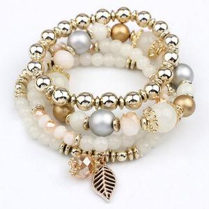4Pcs Beads Round Bracelets Elastic jewelry